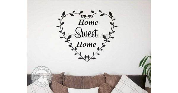 Home sweet home family wall sticker quote vinyl mural - Home sweet home decorative accessories ...