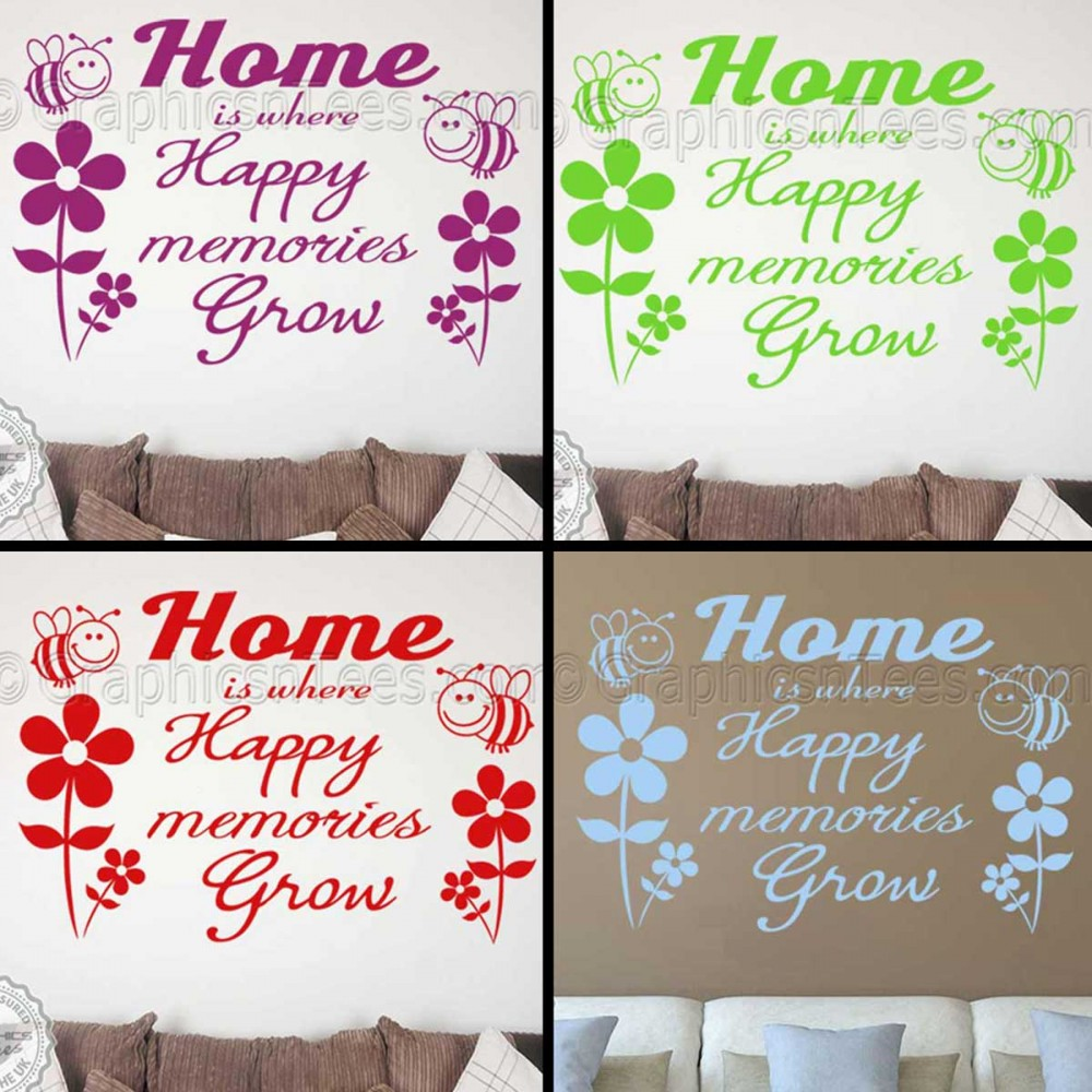 Happy Memories Inspirational Family Wall Art Sticker Quote Home Vinyl Decor Decal
