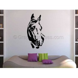 Horse Wall Stickers Boy Girls Bedroom Playroom Lounge Home Mural Decal