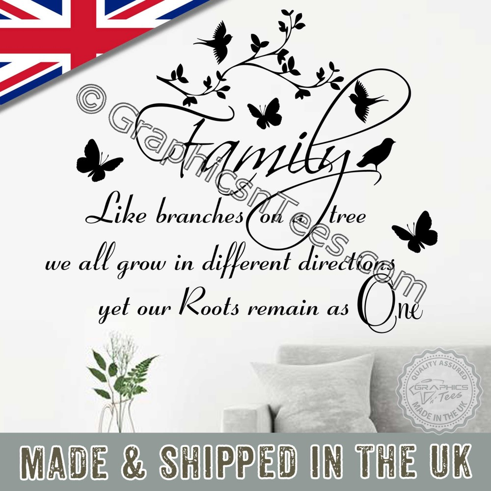 family wall sticker inspirational quote family like branches of