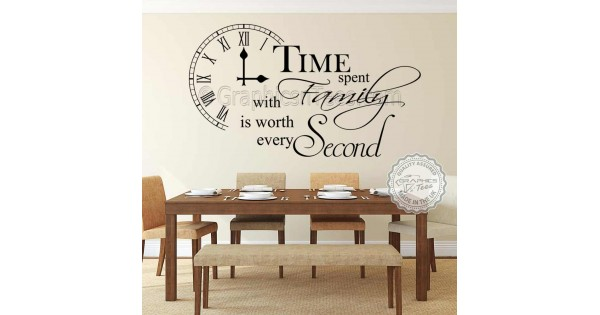 Time Spent With Family Wall Sticker Inspirational Quote
