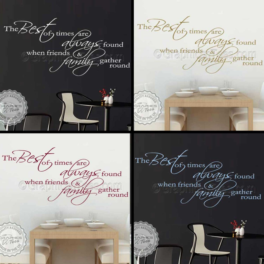 Art Décor: Best Of Times, Inspirational Family Wall Sticker Quote