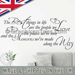 Best Things In Life Inspirational Family Wall Sticker Memories We Make Along The Way Quote Living Room Home Wall Decor Decal 02