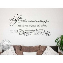 Dance In The Rain Inspirational Family Wall Sticker Quote Decor Decal