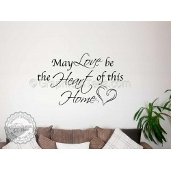 Love Be The Heart Of Home Inspirational Family Wall Sticker Quote Vinyl Mural Decor Decal