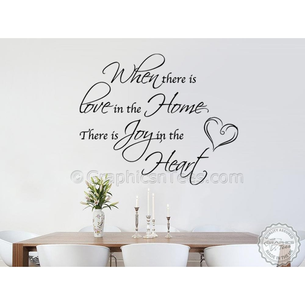 Family Wall Sticker Love Home Joy In Heart Inspirational Home Decor
