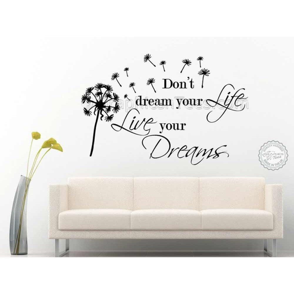 Inspirational Motivational Wall Art Quote Vinyl Sticker Graphic Dream LIV4