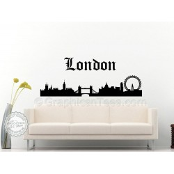 London Skyline Wall Sticker Home Mural Decor Decal