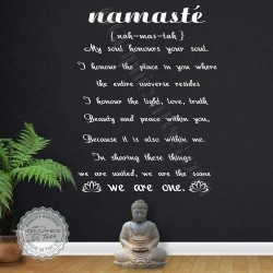 Namaste Yoga Wall Sticker Yoga Studio Wall Art We Are One Quote Vinyl Decor Decal