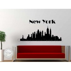 New York Skyline Wall Sticker Home Mural Decor Decal