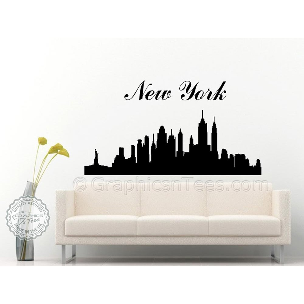 New York Skyline Silhouette Wall Sticker Home Mural Decor Decal