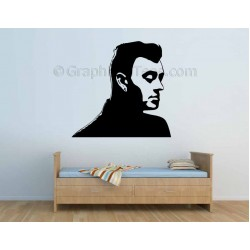 Sam Smith Face Silhouette, Bedroom Wall Art Mural Sticker Decal