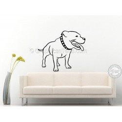 Staffy Staffordshire Bull Terrier, Dog  Wall Sticker, Vinyl Mural Decal