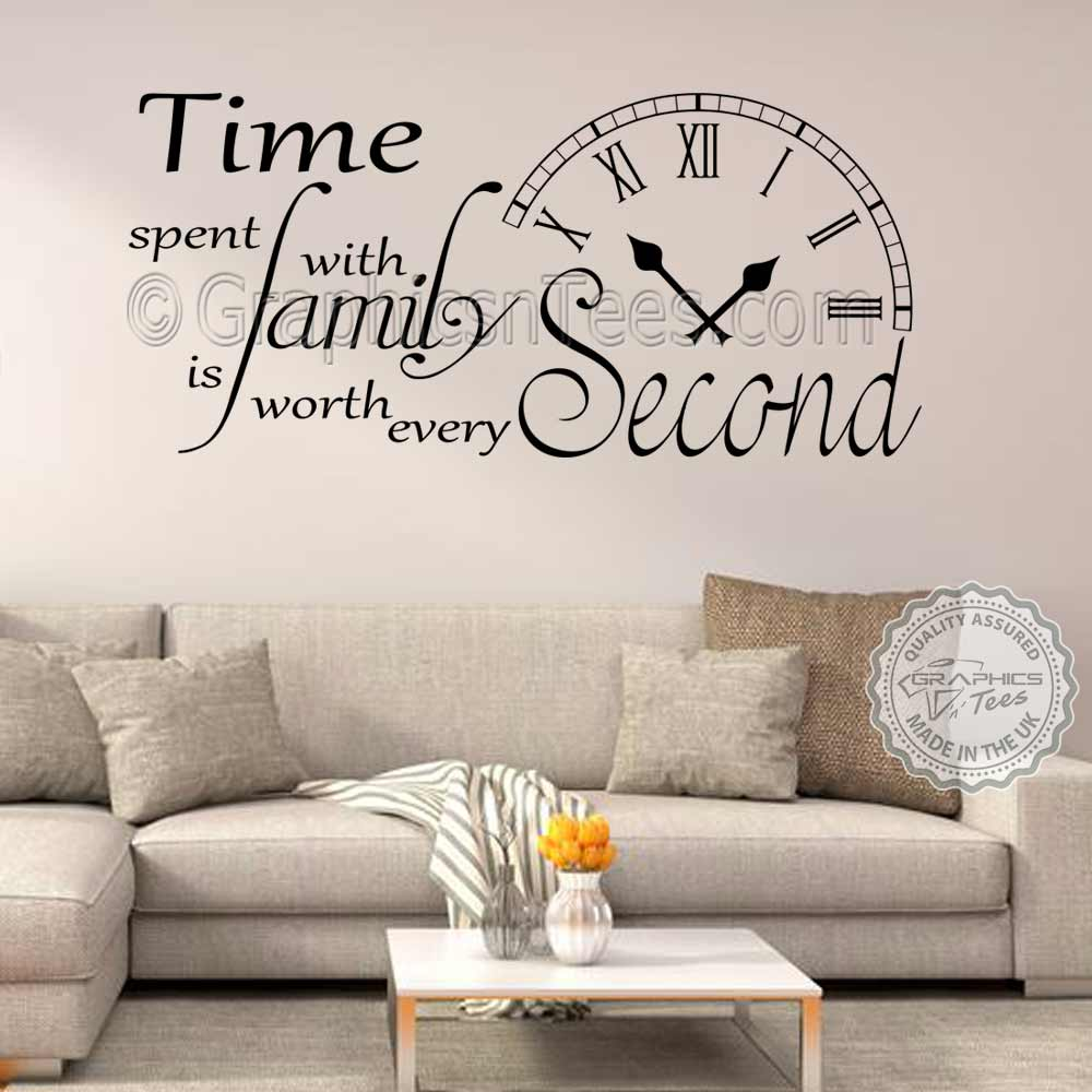Time Spent With Family Inspirational Wall Sticker Quote Living Room
