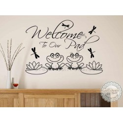 Welcome, Family Wall Sticker Quote, Home, Lounge, Hall, Entrance Porch Wall Decal