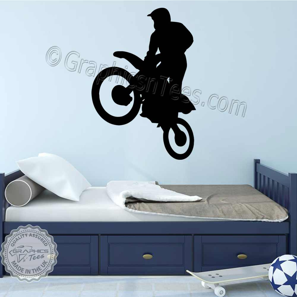 Motocross Wall Stickers Dirt Bike Freestyle Motox Wall Decor Decals 04
