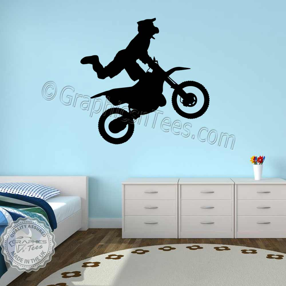 Motocross Wall Stickers Dirt Bike Freestyle Motox Wall Decor Decals 01