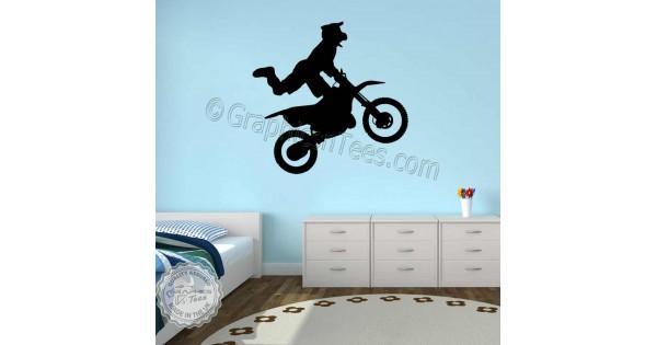 Motocross Wall Stickers Dirt Bike Freestyle Motox Wall