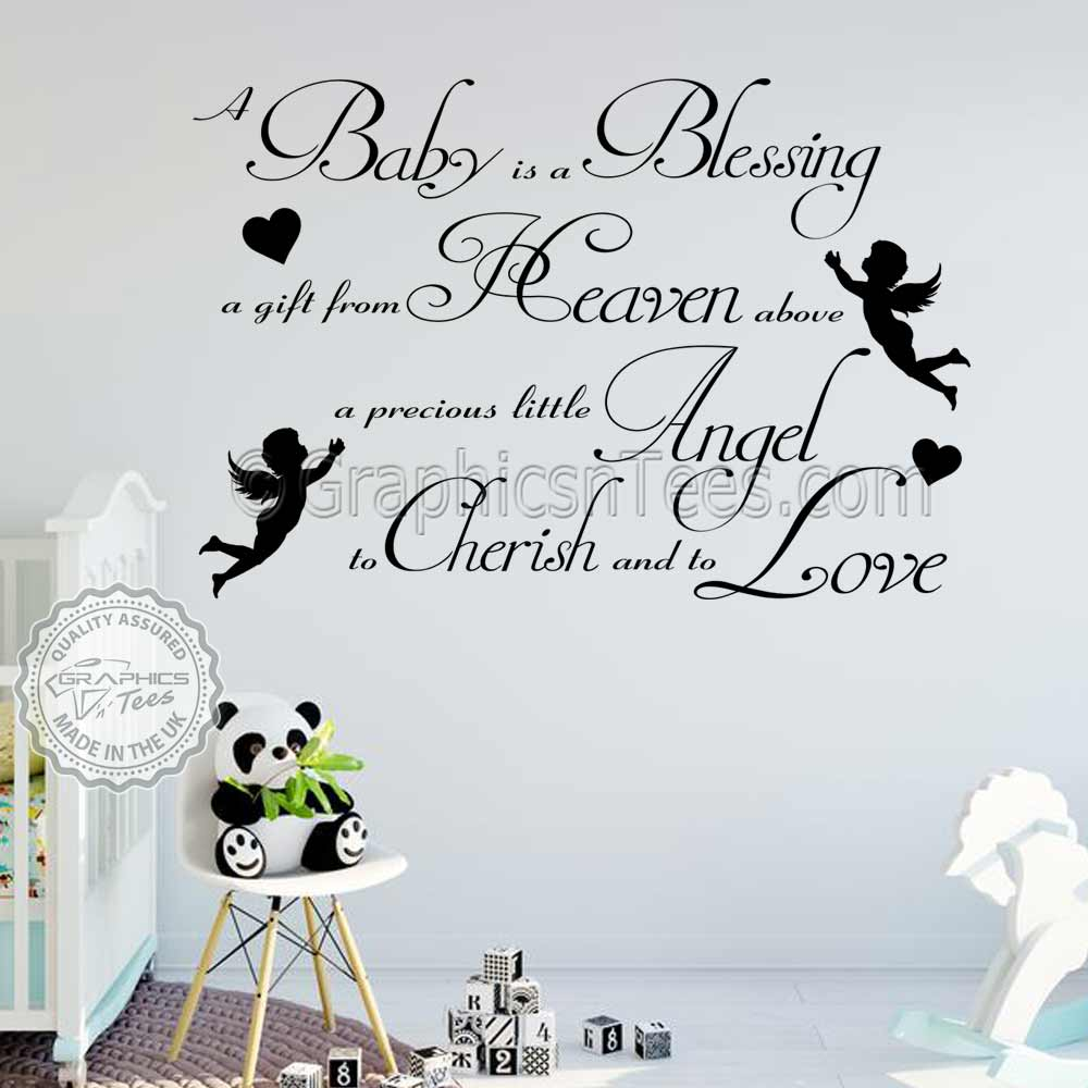 A Blessing Bedroom Wall Quote Decor Decal
