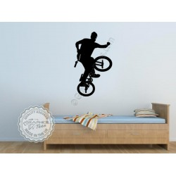 BMX Bike Stickers Boys Girls Bedroom Wall Mural Decor Decals