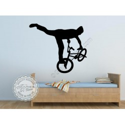 BMX Stunt Trick Rider Wall Mural Sticker, Boy Girls Bedroom Wall Decor Decals -09
