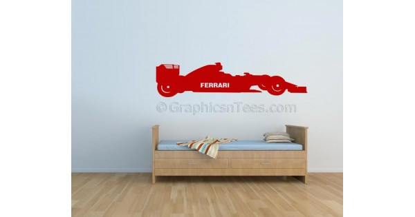Formula 1 F1 Ferrari Racing Car Wall Art Graphic Decal