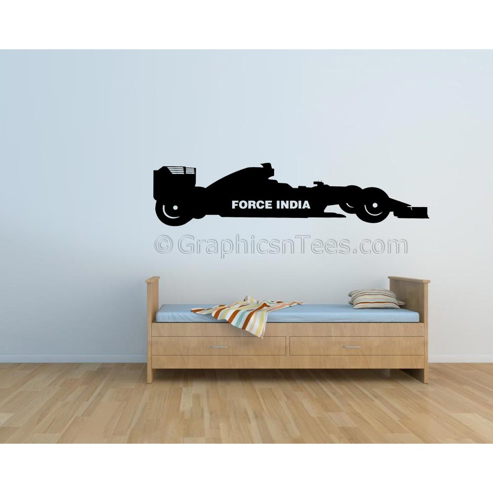 sc 1 st  Graphics u0027nu0027 Tees & Formula 1 F1 Force India Racing Car Wall Art Graphic Decal