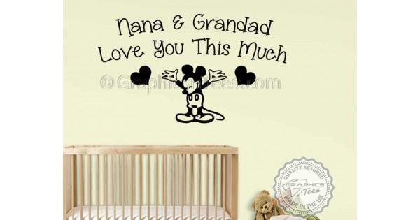 Nursery Wall Sticker Winnie The Pooh Wall Sticker Nana /& Grandad Wall Quote