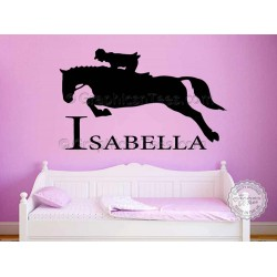 Personalised Horse Wall Stickers Boy Girls Bedroom Playroom Wall Decor Decal
