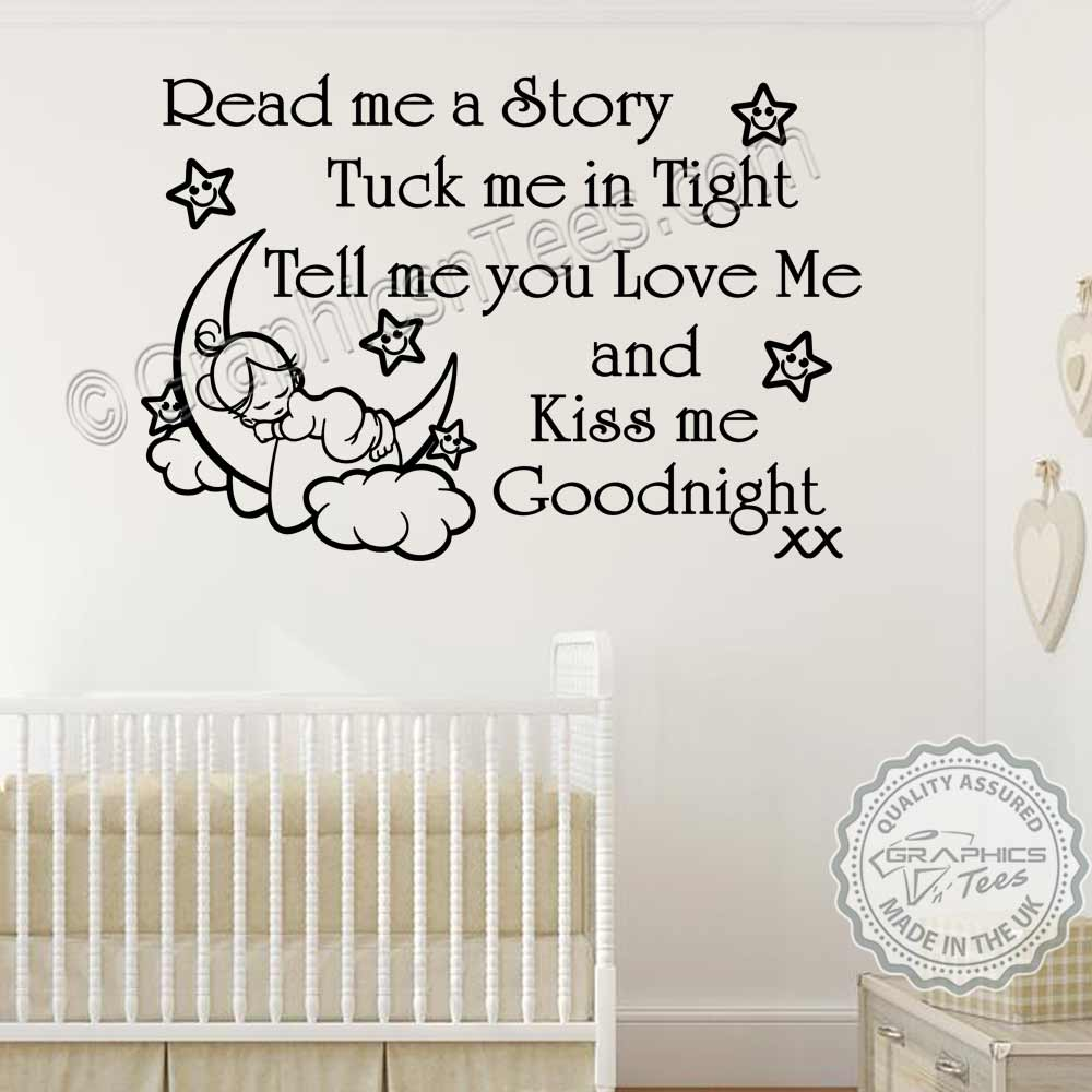 Read Me A Story Nursery Wall Sticker Baby Boys S Quote Bedroom Decor Decal
