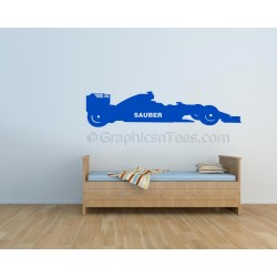 Sauber Formula 1 F1 Racing Car Wall Art Graphic Decal