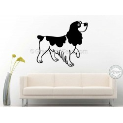 Cocker Springer Spaniel Dog  Wall Sticker, Vinyl Mural Decal