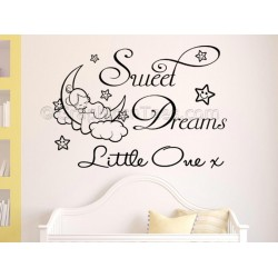 Sweet Dreams Little One Nursery Wall Sticker Childrens Bedroom Wall Quote