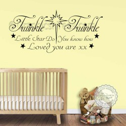 Do You Know How Loved You Are Baby Boys Girls Nursery Bedroom Wall Stickers Quote Decor Decals 02