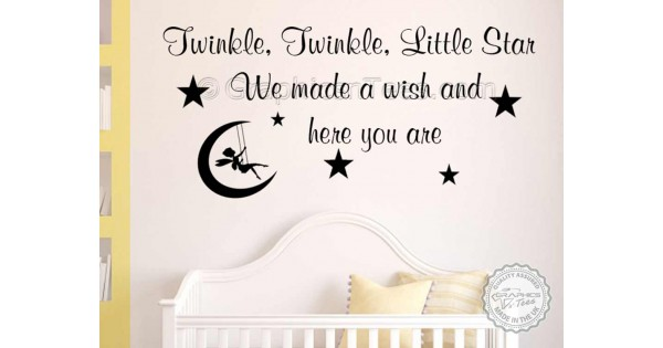 Twinkle Twinkle Little Star Nursery Wall Sticker Baby Boy