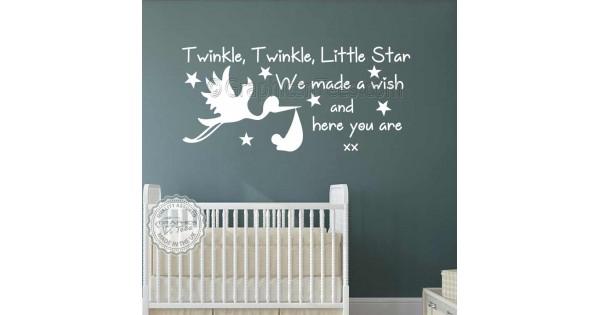 Baby Boys Girls Nursery Bedroom Wall Stickers Twinkle Twinkle Little ...