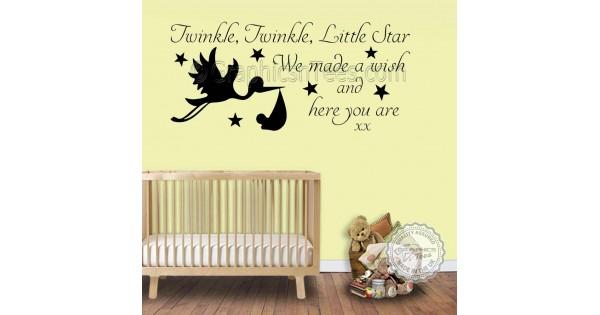 Twinkle Twinkle Little Star Wall Stickers Baby Boys Girls Bedroom ...