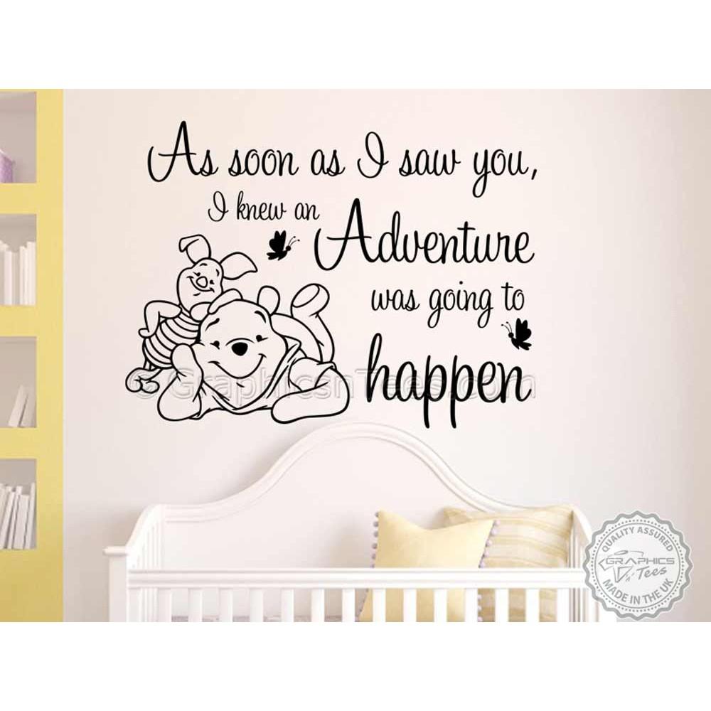 Nursery Wall Sticker Winnie The Pooh And Piglet Bedroom