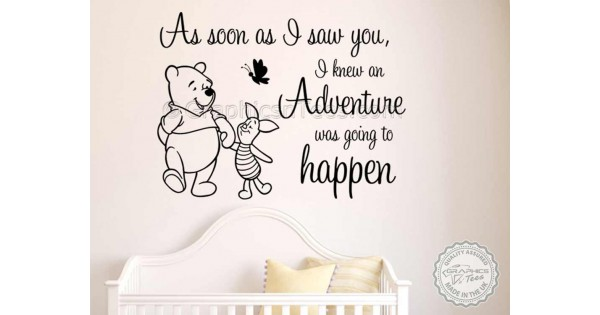 Winnie The Pooh And Piglet Nursery Wall Sticker As Soon As