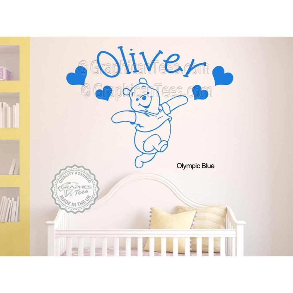 Personalised Nursery Wall Sticker Winnie The Pooh Bedroom Wall