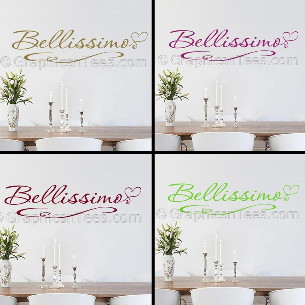 Bellissimo Kitchen Wall Sticker Quote Dining Room Decal