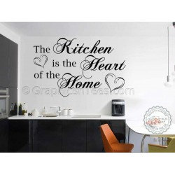 Kitchen Is The Heart Of The Home, Family Wall Sticker, Kitchen Dining Room