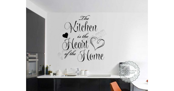 Kitchen Is The Heart Of The Home Family Wall Sticker