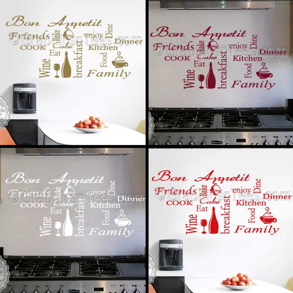 Kitchen Wall Sticker Montage Word Collage Kitchen Quotes