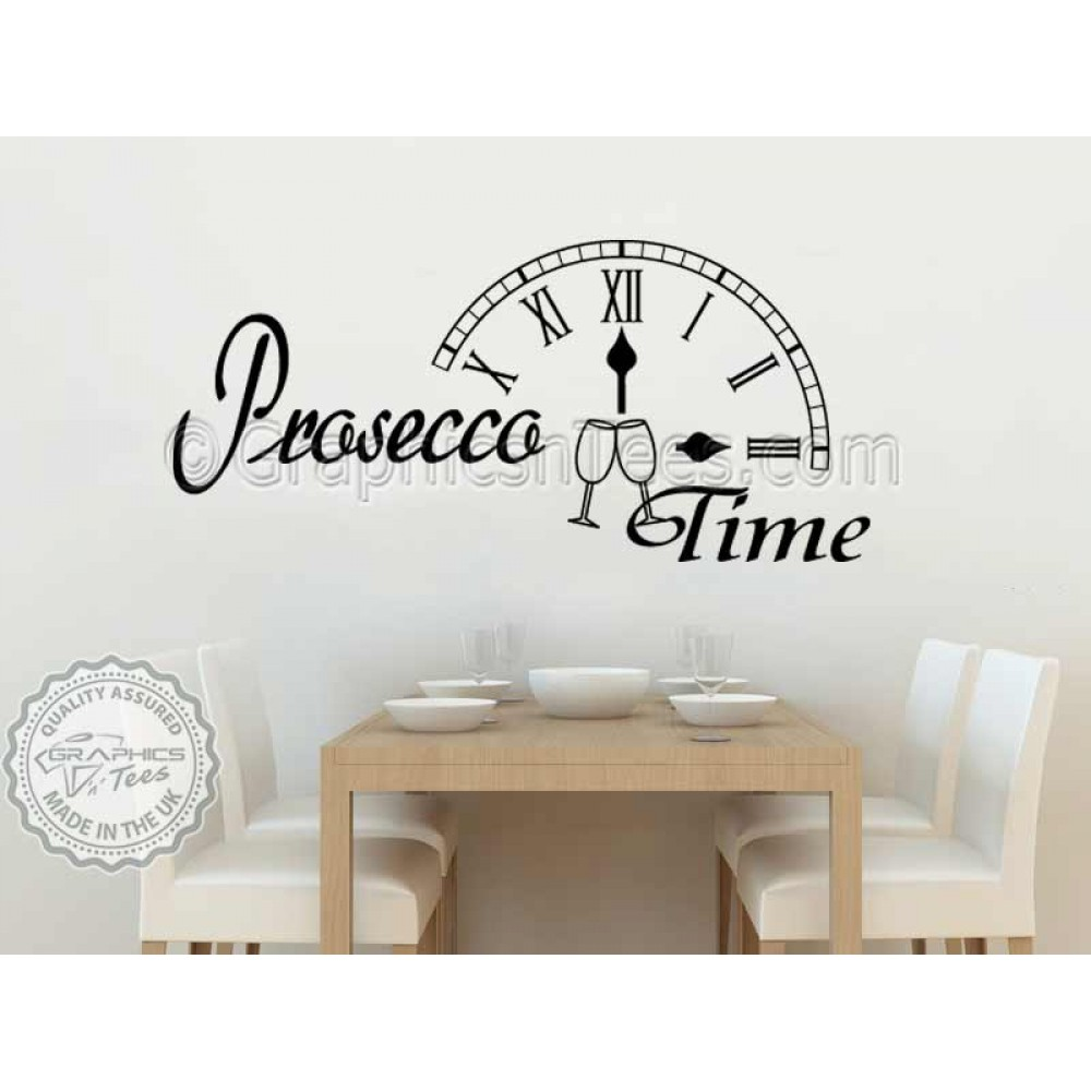 Prosecco time kitchen dining room wall sticker fun quote for Kitchen dining room wall decor