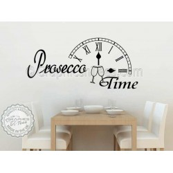 Prosecco Time Kitchen Dining Room Wall Sticker Fun Quote Decor Decal