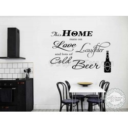 This Home Runs On Love Laughter And Coffee Kitchen Wall