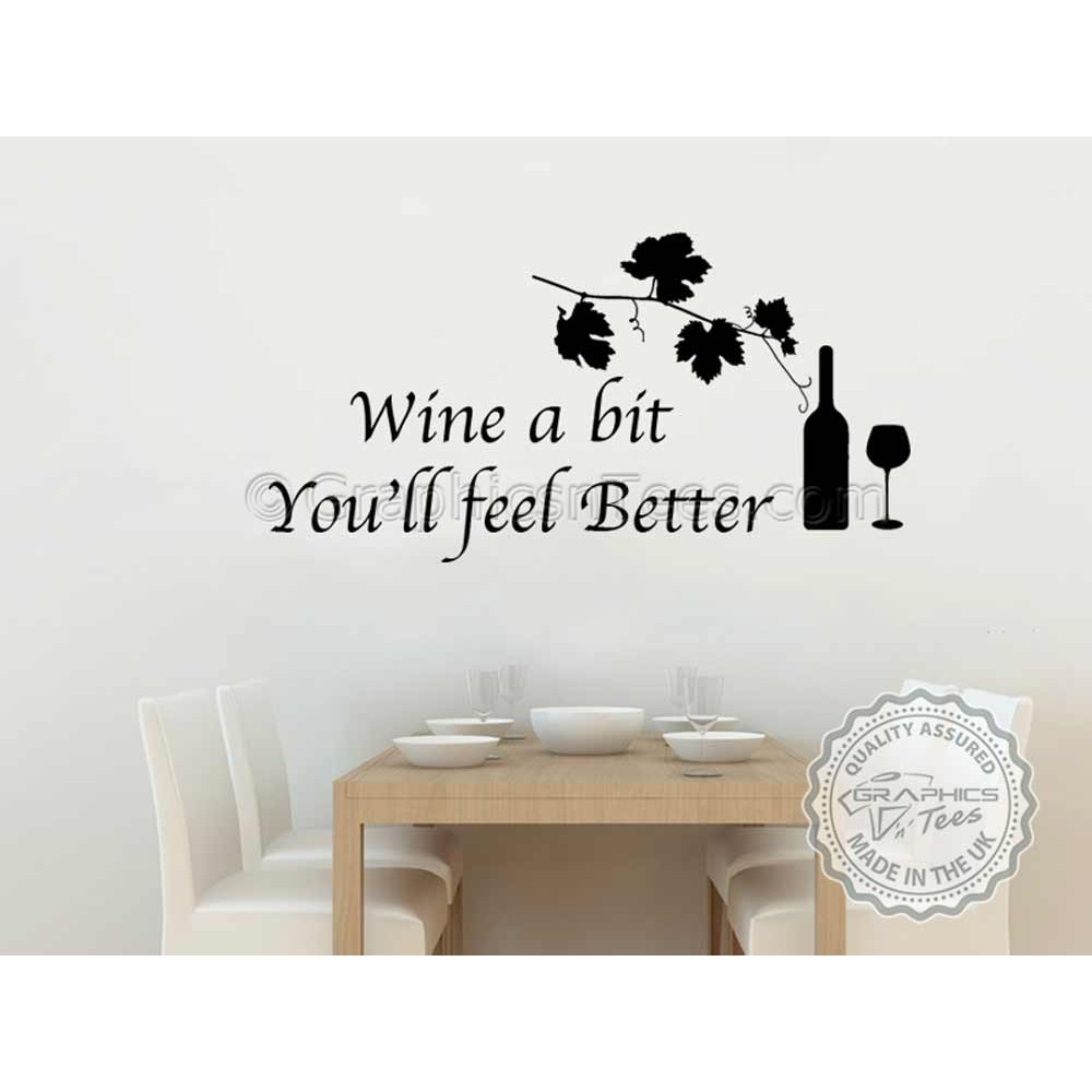 Kitchen and dining room wall art wine a bit kitchen for Wine wall art decorating dining room