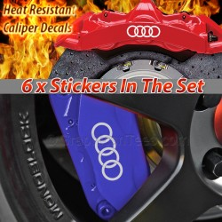 Audi 4 Circles Logo Brake Caliper Decals