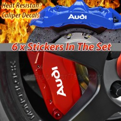 Audi Brake Caliper Decals